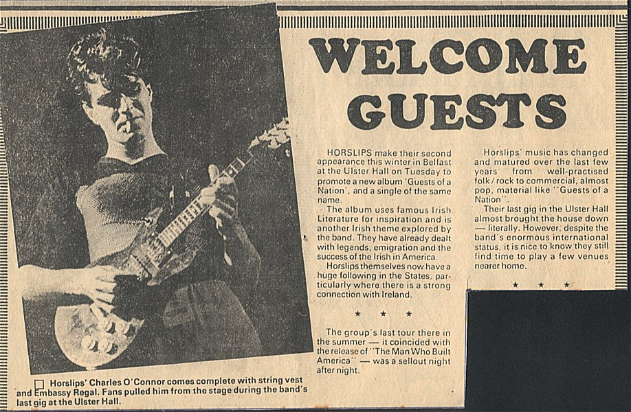 Welcome Guests (Sunday News - circa '78)