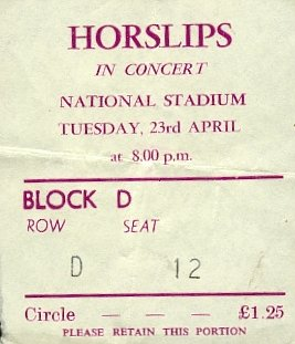Horslips Stadium Ticket