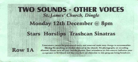 Other Voices Ticket from December 12, 2005