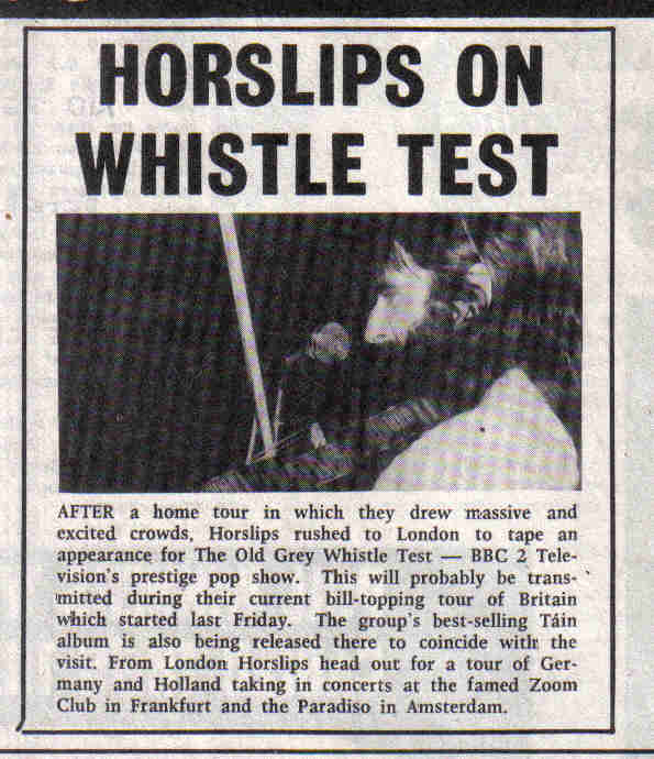 Horslips on Whistle Test