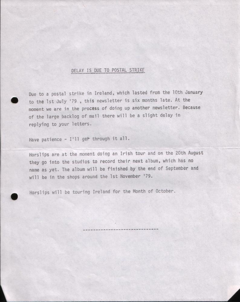 Newsletter 197907
