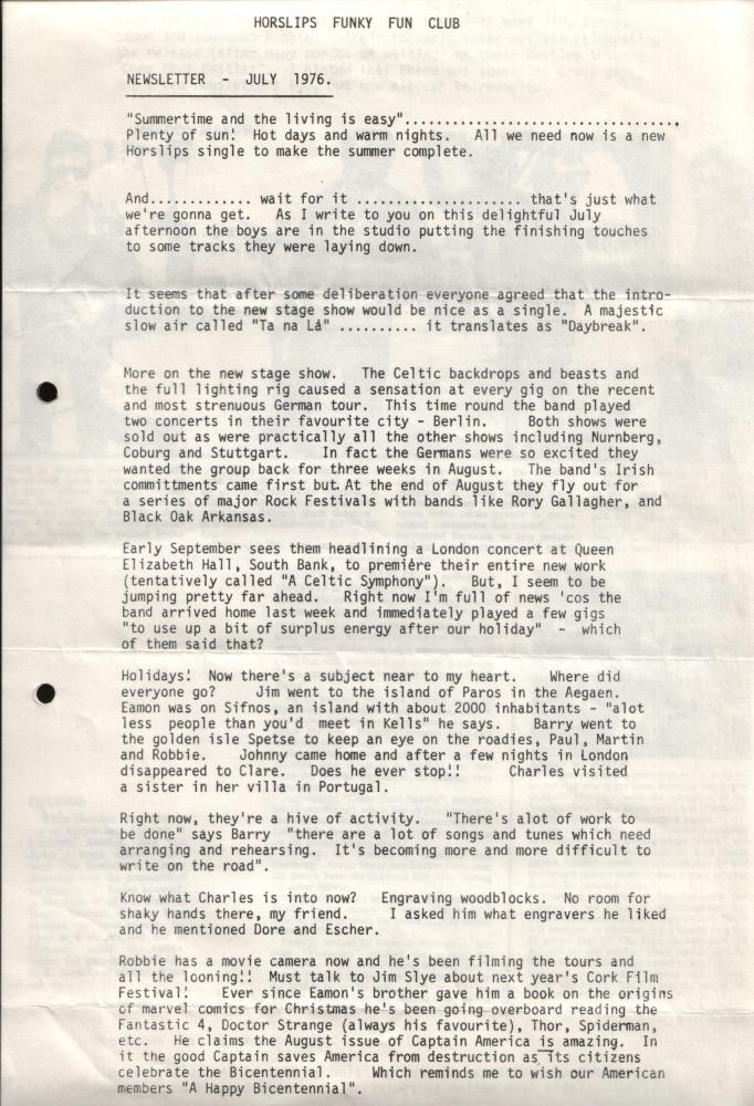 Newsletter 197607A