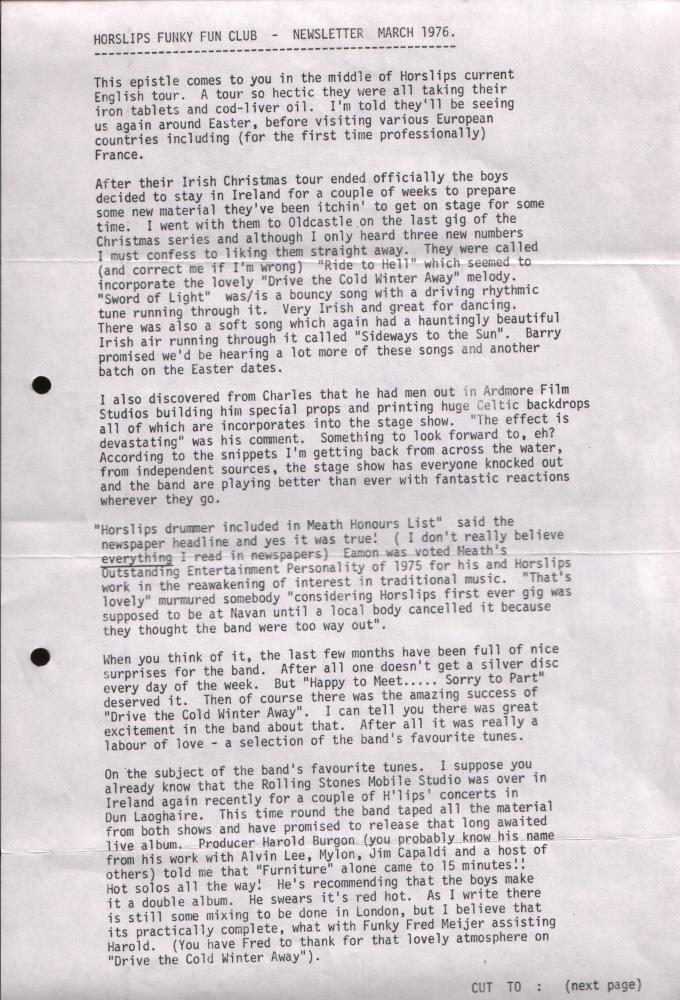 Newsletter 197603A